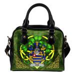 Cox Ireland Shoulder HandBag Celtic Shamrock   Over 1400 Crests   Bags   Premium Quality