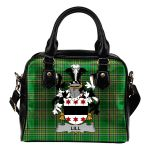 Lill Ireland Shoulder Handbag Irish National Tartan    Over 1400 Crests   Bags   Water-Resistant PU leather