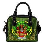 Ronan or O'Ronan Ireland Shoulder HandBag Celtic Shamrock   Over 1400 Crests   Bags   Premium Quality