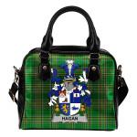Hagan or O'Hagan Ireland Shoulder Handbag Irish National Tartan  | Over 1400 Crests | Bags | Water-Resistant PU leather