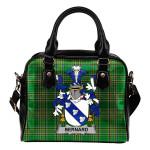 Bernard Ireland Shoulder Handbag Irish National Tartan    Over 1400 Crests   Bags   Water-Resistant PU leather