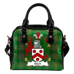 Steen Ireland Shoulder Handbag Irish National Tartan  | Over 1400 Crests | Bags | Water-Resistant PU leather
