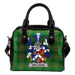 Holligan or O'Halligan Ireland Shoulder Handbag Irish National Tartan  | Over 1400 Crests | Bags | Water-Resistant PU leather