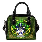 Lonergan or O'Lonergan Ireland Shoulder HandBag Celtic Shamrock | Over 1400 Crests | Bags | Premium Quality