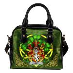Hoey or O'Hoey Ireland Shoulder HandBag Celtic Shamrock   Over 1400 Crests   Bags   Premium Quality