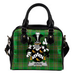 Jervis or Jarvis Ireland Shoulder Handbag Irish National Tartan    Over 1400 Crests   Bags   Water-Resistant PU leather
