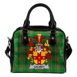 Galwey Ireland Shoulder Handbag Irish National Tartan  | Over 1400 Crests | Bags | Water-Resistant PU leather