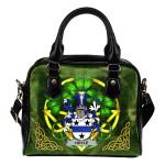 Hoyle or McIlhoyle Ireland Shoulder HandBag Celtic Shamrock | Over 1400 Crests | Bags | Premium Quality