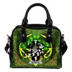 Kennedy or O'Kennedy Ireland Shoulder HandBag Celtic Shamrock | Over 1400 Crests | Bags | Premium Quality