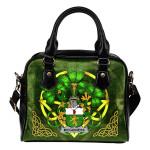 McGuiness or McGenis Ireland Shoulder HandBag Celtic Shamrock   Over 1400 Crests   Bags   Premium Quality