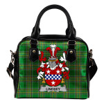 Lindsey Ireland Shoulder Handbag Irish National Tartan    Over 1400 Crests   Bags   Water-Resistant PU leather