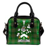 Flood Ireland Shoulder Handbag Irish National Tartan  | Over 1400 Crests | Bags | Water-Resistant PU leather