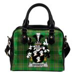 Kennedy or O'Kennedy Ireland Shoulder Handbag Irish National Tartan  | Over 1400 Crests | Bags | Water-Resistant PU leather