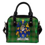 Foord Ireland Shoulder Handbag Irish National Tartan  | Over 1400 Crests | Bags | Water-Resistant PU leather