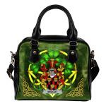 Wiggat Ireland Shoulder HandBag Celtic Shamrock | Over 1400 Crests | Bags | Premium Quality