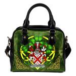 Fitz-Garrett Ireland Shoulder HandBag Celtic Shamrock | Over 1400 Crests | Bags | Premium Quality
