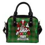 Atkinson Ireland Shoulder Handbag Irish National Tartan    Over 1400 Crests   Bags   Water-Resistant PU leather