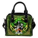Worth or McWorth Ireland Shoulder HandBag Celtic Shamrock | Over 1400 Crests | Bags | Premium Quality