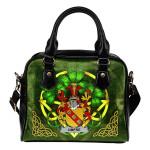 Umfre Ireland Shoulder HandBag Celtic Shamrock | Over 1400 Crests | Bags | Premium Quality