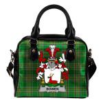 Bowen Ireland Shoulder Handbag Irish National Tartan  | Over 1400 Crests | Bags | Water-Resistant PU leather
