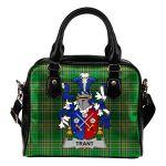 Trant or Trent Ireland Shoulder Handbag Irish National Tartan  | Over 1400 Crests | Bags | Water-Resistant PU leather