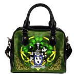 Sharpe Ireland Shoulder HandBag Celtic Shamrock | Over 1400 Crests | Bags | Premium Quality