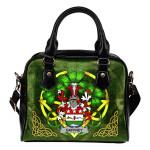 Gaffney Ireland Shoulder HandBag Celtic Shamrock | Over 1400 Crests | Bags | Premium Quality