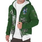 Cotter or MacCotter Ireland Sherpa Hoodie Celtic Irish Shamrock and Sword | Over 1400 Crests | Clothing | Apparel