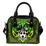 Basile Ireland Shoulder HandBag Celtic Shamrock | Over 1400 Crests | Bags | Premium Quality