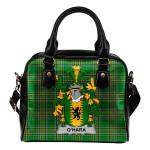 Hara or O'Hara Ireland Shoulder Handbag Irish National Tartan  | Over 1400 Crests | Bags | Water-Resistant PU leather