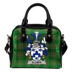 Ellmer Ireland Shoulder Handbag Irish National Tartan  | Over 1400 Crests | Bags | Water-Resistant PU leather