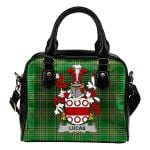 Lucas or Luke Ireland Shoulder Handbag Irish National Tartan  | Over 1400 Crests | Bags | Water-Resistant PU leather