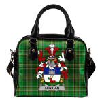 Lenihan or O'Lenaghan Ireland Shoulder Handbag Irish National Tartan    Over 1400 Crests   Bags   Water-Resistant PU leather