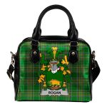 Rogan or O'Rogan Ireland Shoulder Handbag Irish National Tartan  | Over 1400 Crests | Bags | Water-Resistant PU leather