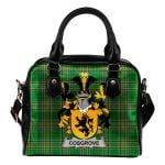 Cosgrove or O'Cosgrave Ireland Shoulder Handbag Irish National Tartan  | Over 1400 Crests | Bags | Water-Resistant PU leather