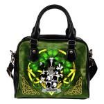 Codden or McCodden Ireland Shoulder HandBag Celtic Shamrock | Over 1400 Crests | Bags | Premium Quality