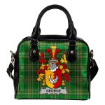 George Ireland Shoulder Handbag Irish National Tartan  | Over 1400 Crests | Bags | Water-Resistant PU leather