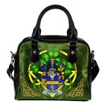Fergus or O'Fearghus Ireland Shoulder HandBag Celtic Shamrock | Over 1400 Crests | Bags | Premium Quality