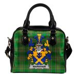 Markham Ireland Shoulder Handbag Irish National Tartan  | Over 1400 Crests | Bags | Water-Resistant PU leather