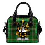 Nixon Ireland Shoulder Handbag Irish National Tartan  | Over 1400 Crests | Bags | Water-Resistant PU leather