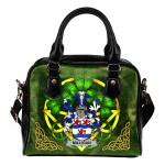 Milligan Ireland Shoulder HandBag Celtic Shamrock   Over 1400 Crests   Bags   Premium Quality