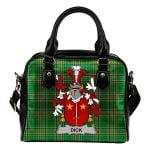 Dick Ireland Shoulder Handbag Irish National Tartan  | Over 1400 Crests | Bags | Water-Resistant PU leather