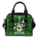 Mooney or O'Mooney Ireland Shoulder Handbag Irish National Tartan  | Over 1400 Crests | Bags | Water-Resistant PU leather