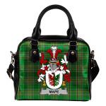 Mape Ireland Shoulder Handbag Irish National Tartan    Over 1400 Crests   Bags   Water-Resistant PU leather