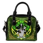 Hanson or O'Hanson Ireland Shoulder HandBag Celtic Shamrock | Over 1400 Crests | Bags | Premium Quality