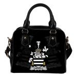 Carrell Ireland Shoulder Handbag - Irish Family Crest   Highest Quality Standard