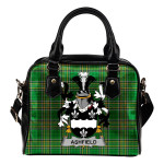 Ashfield Ireland Shoulder Handbag Irish National Tartan  | Over 1400 Crests | Bags | Water-Resistant PU leather