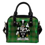 Penne or Penn Ireland Shoulder Handbag Irish National Tartan  | Over 1400 Crests | Bags | Water-Resistant PU leather