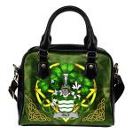 Haly Ireland Shoulder HandBag Celtic Shamrock | Over 1400 Crests | Bags | Premium Quality