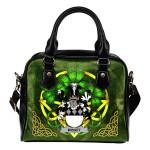 Misset Ireland Shoulder HandBag Celtic Shamrock | Over 1400 Crests | Bags | Premium Quality